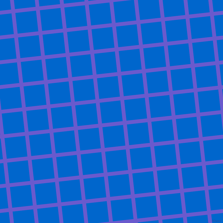 6/96 degree angle diagonal checkered chequered lines, 15 pixel lines width, 81 pixel square size, Slate Blue and Navy Blue plaid checkered seamless tileable