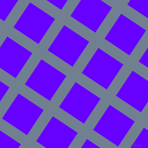56/146 degree angle diagonal checkered chequered lines, 36 pixel lines width, 98 pixel square size, Slate Grey and Electric Indigo plaid checkered seamless tileable