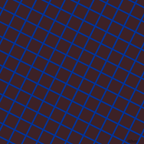 63/153 degree angle diagonal checkered chequered lines, 5 pixel line width, 37 pixel square size, Smalt and Temptress plaid checkered seamless tileable
