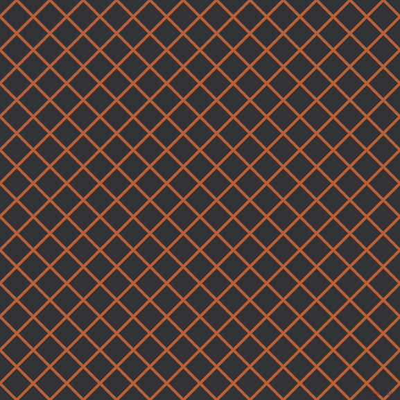 45/135 degree angle diagonal checkered chequered lines, 4 pixel line width, 30 pixel square size, Smoke Tree and Ebony plaid checkered seamless tileable