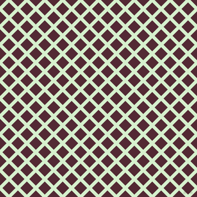 45/135 degree angle diagonal checkered chequered lines, 14 pixel lines width, 38 pixel square size, Snowy Mint and Black Rose plaid checkered seamless tileable