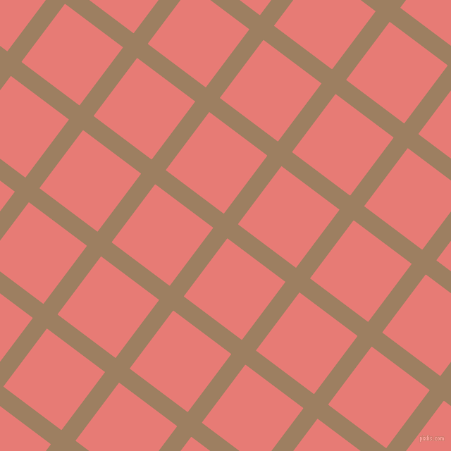 53/143 degree angle diagonal checkered chequered lines, 25 pixel lines width, 103 pixel square size, Sorrell Brown and Geraldine plaid checkered seamless tileable