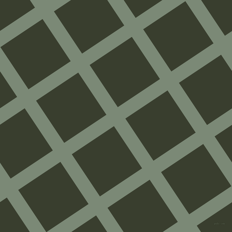 34/124 degree angle diagonal checkered chequered lines, 44 pixel line width, 163 pixel square size, Spanish Green and Log Cabin plaid checkered seamless tileable