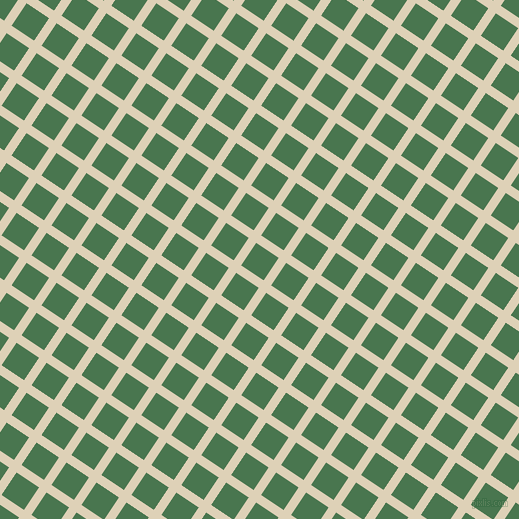 56/146 degree angle diagonal checkered chequered lines, 9 pixel line width, 27 pixel square size, Spanish White and Killarney plaid checkered seamless tileable