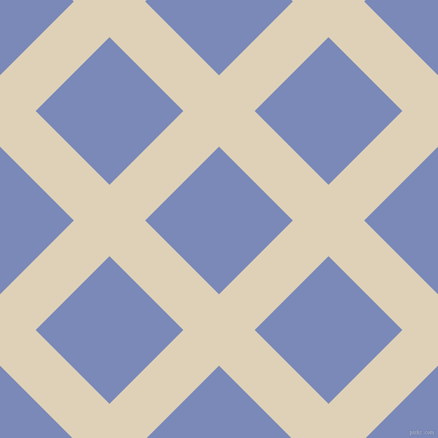 45/135 degree angle diagonal checkered chequered lines, 72 pixel lines width, 149 pixel square size, Spanish White and Wild Blue Yonder plaid checkered seamless tileable