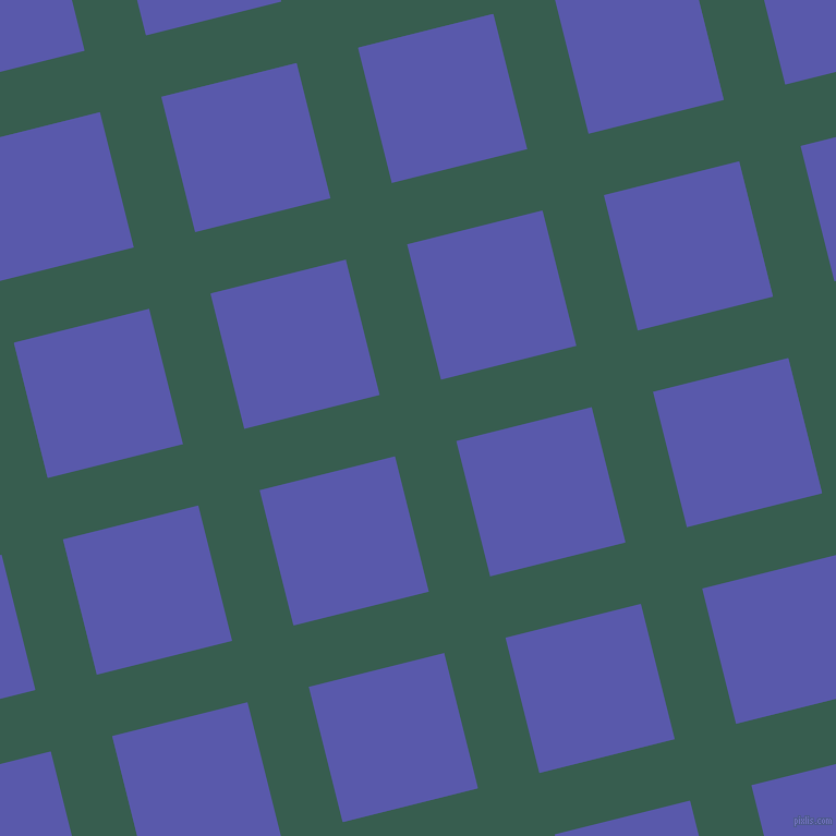 14/104 degree angle diagonal checkered chequered lines, 58 pixel line width, 128 pixel square size, Spectra and Rich Blue plaid checkered seamless tileable