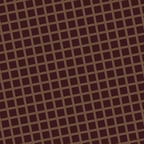 11/101 degree angle diagonal checkered chequered lines, 8 pixel lines width, 25 pixel square size, Spice and Rustic Red plaid checkered seamless tileable