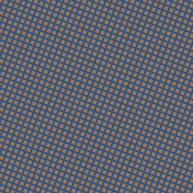 69/159 degree angle diagonal checkered chequered lines, 6 pixel lines width, 12 pixel square size, St Tropaz and Pale Brown plaid checkered seamless tileable