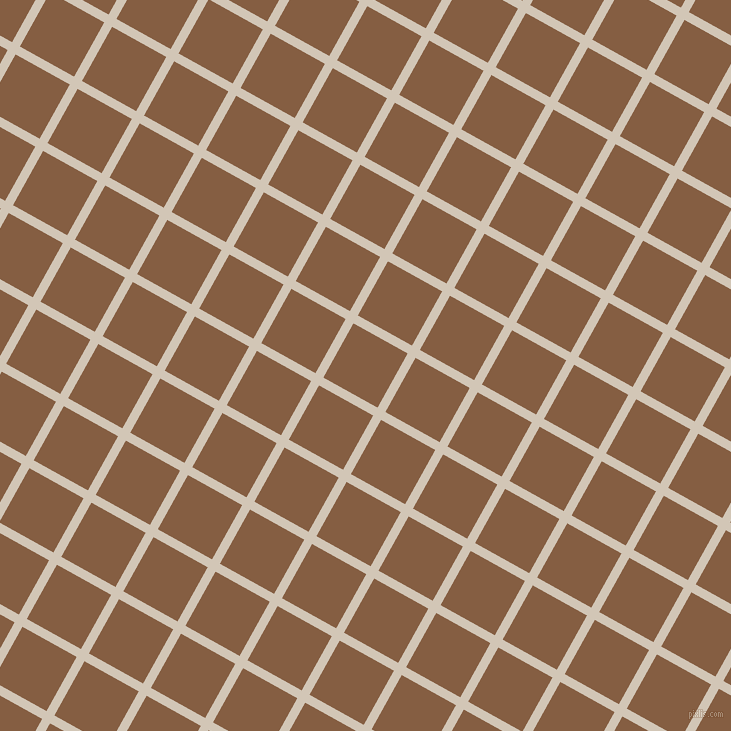 61/151 degree angle diagonal checkered chequered lines, 9 pixel lines width, 62 pixel square size, Stark White and Dark Wood plaid checkered seamless tileable