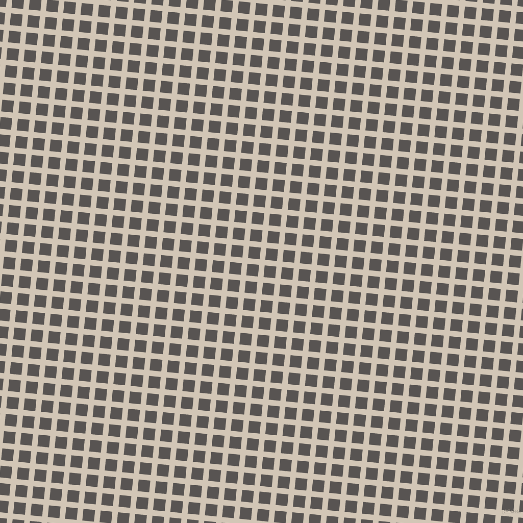 84/174 degree angle diagonal checkered chequered lines, 11 pixel line width, 23 pixel square size, Stark White and Tundora plaid checkered seamless tileable