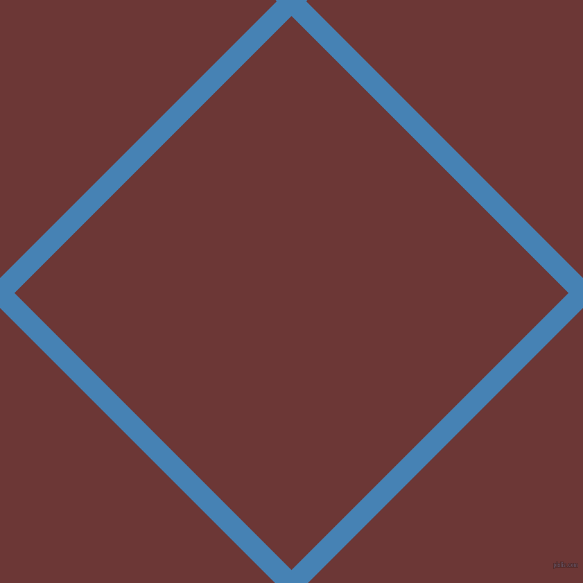 45/135 degree angle diagonal checkered chequered lines, 30 pixel line width, 565 pixel square size, Steel Blue and Sanguine Brown plaid checkered seamless tileable