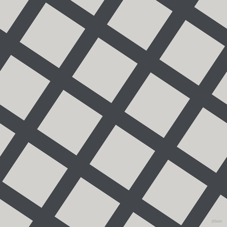56/146 degree angle diagonal checkered chequered lines, 54 pixel lines width, 164 pixel square size, Steel Grey and Concrete plaid checkered seamless tileable