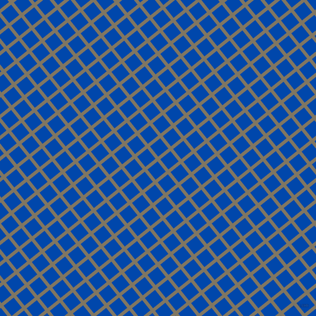 39/129 degree angle diagonal checkered chequered lines, 7 pixel lines width, 27 pixel square size, Stonewall and Cobalt plaid checkered seamless tileable