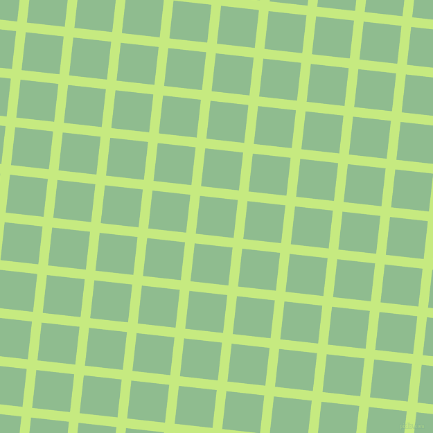 84/174 degree angle diagonal checkered chequered lines, 14 pixel lines width, 55 pixel square size, Sulu and Dark Sea Green plaid checkered seamless tileable