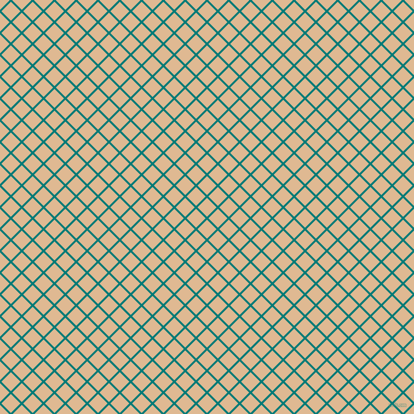 45/135 degree angle diagonal checkered chequered lines, 4 pixel line width, 27 pixel square size, Surfie Green and Pancho plaid checkered seamless tileable