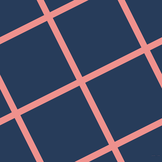 27/117 degree angle diagonal checkered chequered lines, 27 pixel lines width, 278 pixel square size, Sweet Pink and Catalina Blue plaid checkered seamless tileable