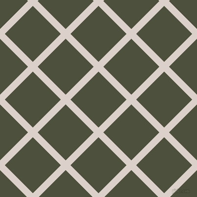 45/135 degree angle diagonal checkered chequered lines, 14 pixel lines width, 81 pixel square size, Swiss Coffee and Kelp plaid checkered seamless tileable