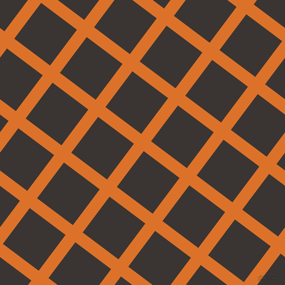 53/143 degree angle diagonal checkered chequered lines, 24 pixel line width, 88 pixel square size, Tahiti Gold and Kilamanjaro plaid checkered seamless tileable