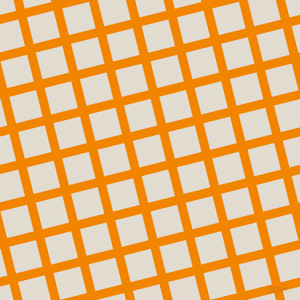 14/104 degree angle diagonal checkered chequered lines, 13 pixel line width, 40 pixel square size, Tangerine and Merino plaid checkered seamless tileable