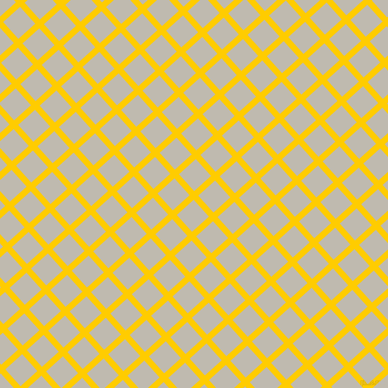 42/132 degree angle diagonal checkered chequered lines, 9 pixel lines width, 33 pixel square size, Tangerine Yellow and Cotton Seed plaid checkered seamless tileable