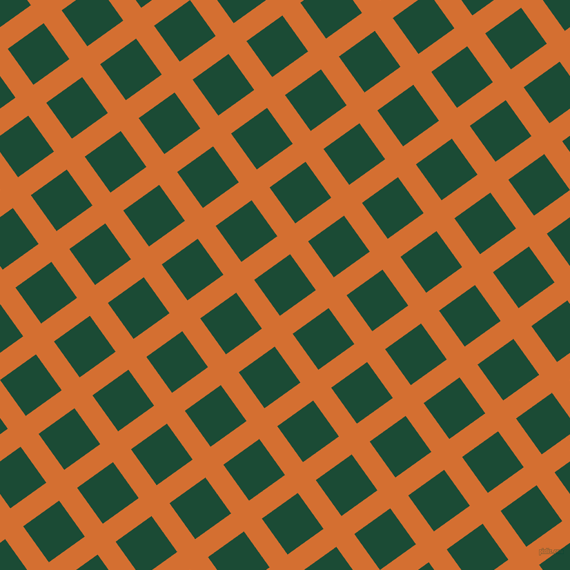 36/126 degree angle diagonal checkered chequered lines, 32 pixel line width, 64 pixel square size, Tango and County Green plaid checkered seamless tileable