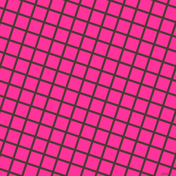 72/162 degree angle diagonal checkered chequered lines, 8 pixel line width, 46 pixel square size, Taupe and Wild Strawberry plaid checkered seamless tileable
