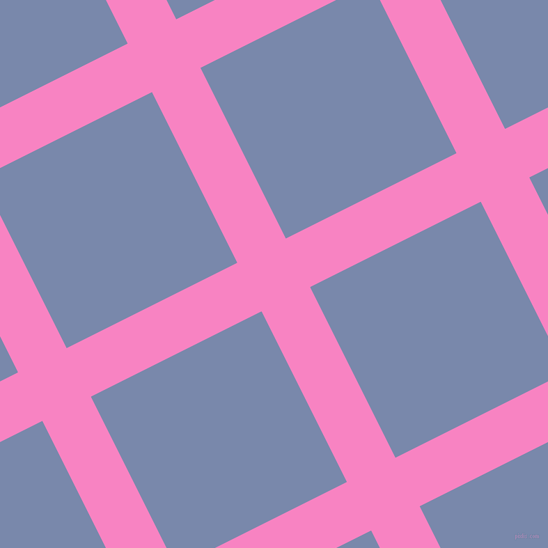 27/117 degree angle diagonal checkered chequered lines, 78 pixel line width, 274 pixel square size, Tea Rose and Ship Cove plaid checkered seamless tileable