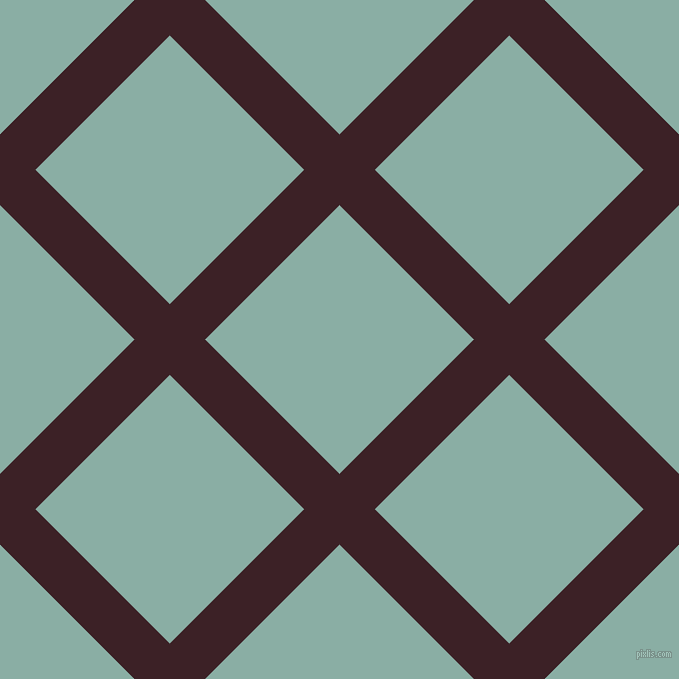 45/135 degree angle diagonal checkered chequered lines, 50 pixel lines width, 190 pixel square size, Temptress and Sea Nymph plaid checkered seamless tileable