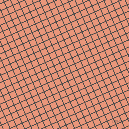 24/114 degree angle diagonal checkered chequered lines, 3 pixel lines width, 20 pixel square size, Thunder and Dark Salmon plaid checkered seamless tileable
