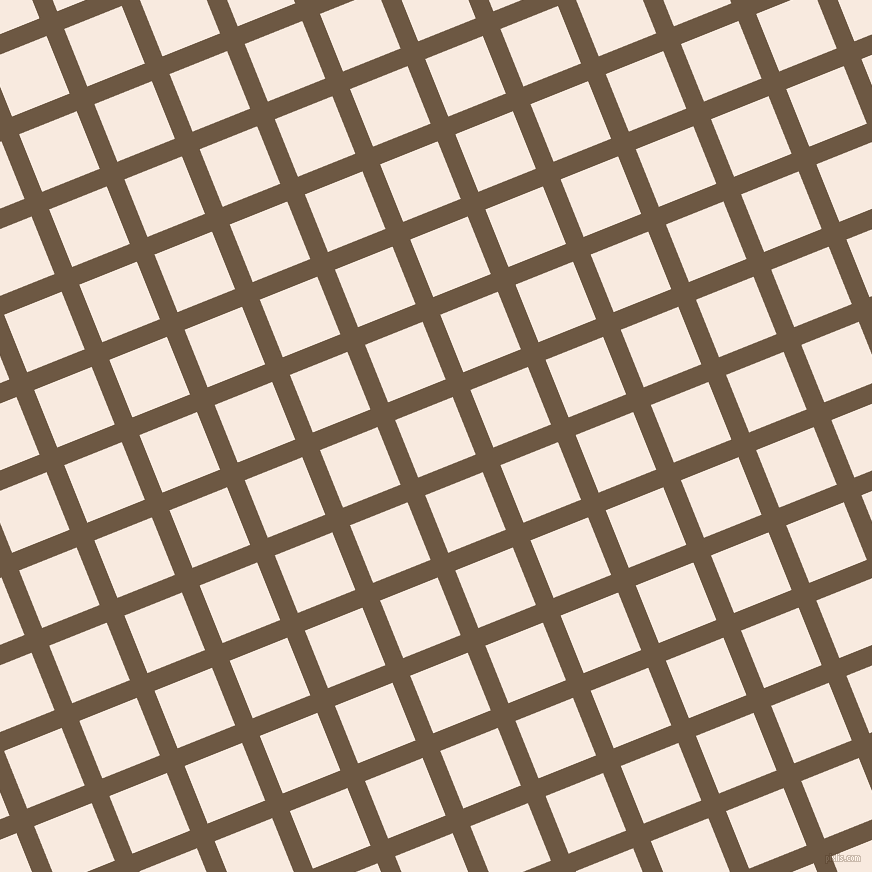 22/112 degree angle diagonal checkered chequered lines, 19 pixel line width, 62 pixel square size, Tobacco Brown and Chardon plaid checkered seamless tileable