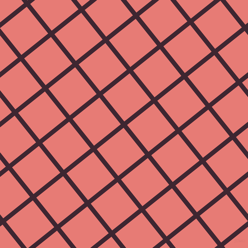 39/129 degree angle diagonal checkered chequered lines, 15 pixel lines width, 115 pixel square size, Toledo and Geraldine plaid checkered seamless tileable