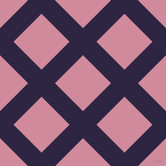 45/135 degree angle diagonal checkered chequered lines, 63 pixel lines width, 131 pixel square size, Tolopea and Can Can plaid checkered seamless tileable