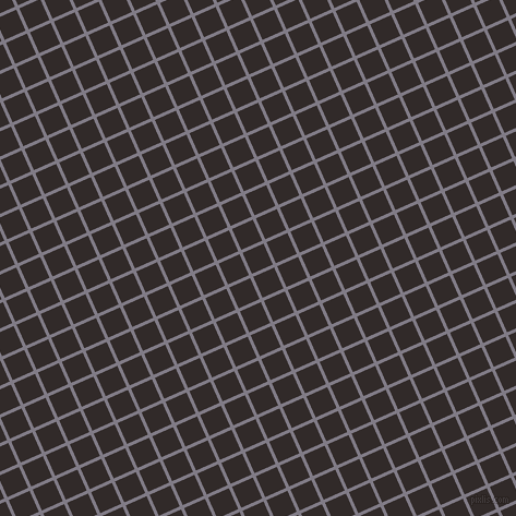 24/114 degree angle diagonal checkered chequered lines, 3 pixel lines width, 21 pixel square size, Topaz and Livid Brown plaid checkered seamless tileable