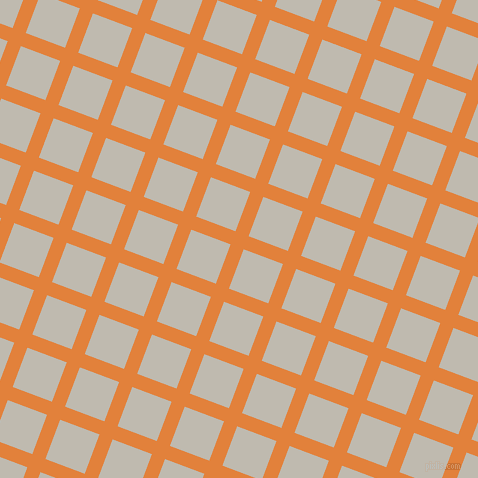 69/159 degree angle diagonal checkered chequered lines, 14 pixel line width, 42 pixel square size, Tree Poppy and Cotton Seed plaid checkered seamless tileable