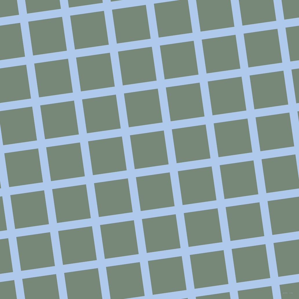 8/98 degree angle diagonal checkered chequered lines, 28 pixel lines width, 118 pixel square size, Tropical Blue and Davy