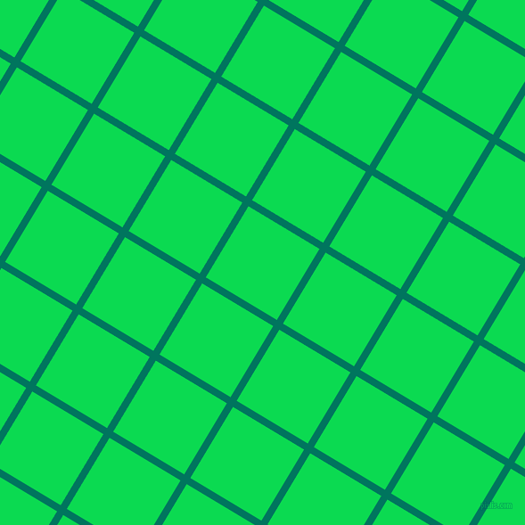 59/149 degree angle diagonal checkered chequered lines, 8 pixel line width, 93 pixel square size, Tropical Rain Forest and Malachite plaid checkered seamless tileable