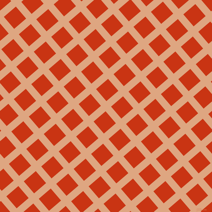41/131 degree angle diagonal checkered chequered lines, 25 pixel lines width, 55 pixel square size, Tumbleweed and Harley Davidson Orange plaid checkered seamless tileable
