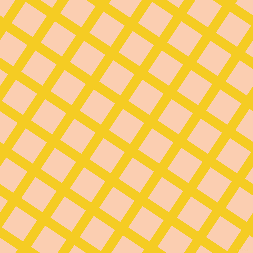 56/146 degree angle diagonal checkered chequered lines, 31 pixel line width, 82 pixel square size, Turbo and Apricot plaid checkered seamless tileable