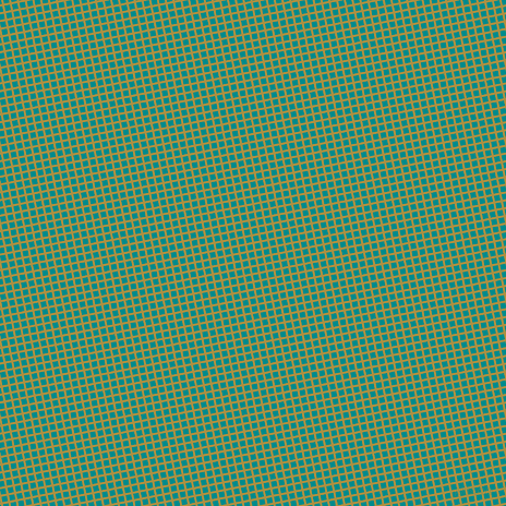 11/101 degree angle diagonal checkered chequered lines, 2 pixel lines width, 5 pixel square size, Turmeric and Dark Cyan plaid checkered seamless tileable