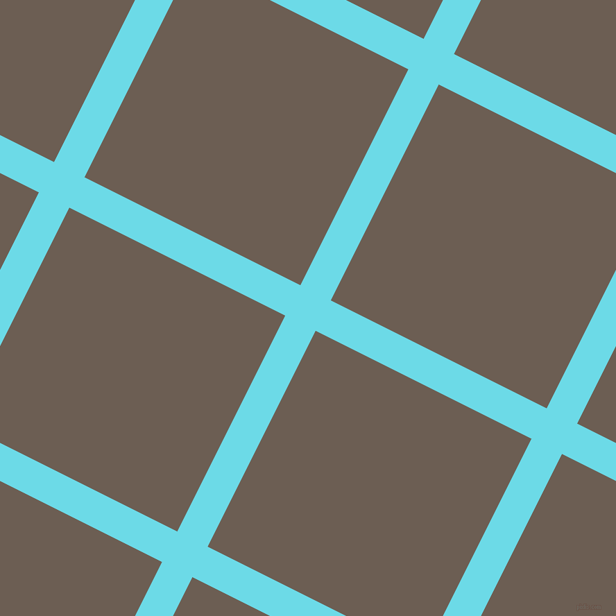 63/153 degree angle diagonal checkered chequered lines, 49 pixel line width, 348 pixel square size, Turquoise Blue and Kabul plaid checkered seamless tileable
