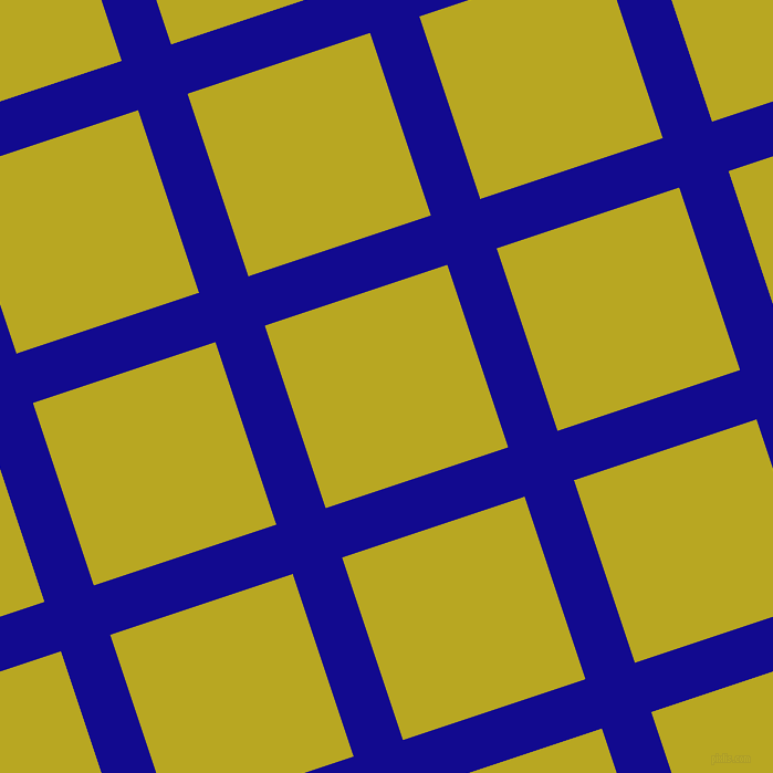 18/108 degree angle diagonal checkered chequered lines, 47 pixel line width, 174 pixel square size, Ultramarine and Earls Green plaid checkered seamless tileable
