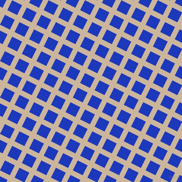 63/153 degree angle diagonal checkered chequered lines, 18 pixel line width, 38 pixel square size, Vanilla and Persian Blue plaid checkered seamless tileable