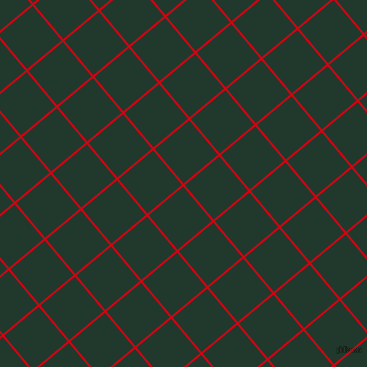 40/130 degree angle diagonal checkered chequered lines, 3 pixel line width, 65 pixel square size, Venetian Red and Palm Green plaid checkered seamless tileable