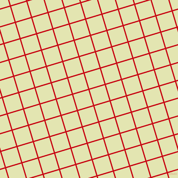 17/107 degree angle diagonal checkered chequered lines, 5 pixel lines width, 64 pixel square size, Venetian Red and Tusk plaid checkered seamless tileable