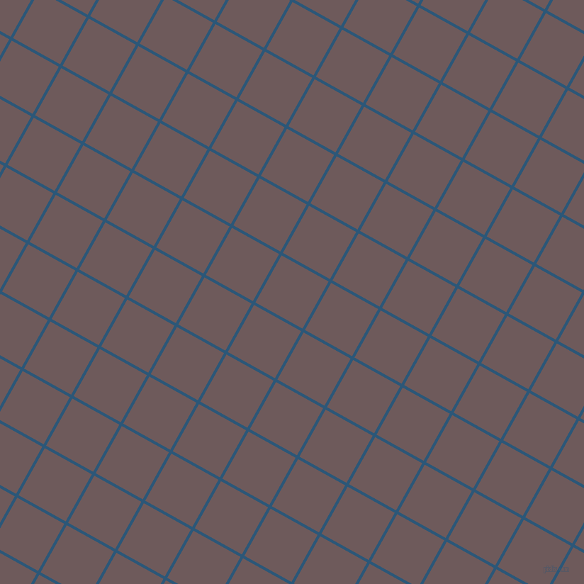 61/151 degree angle diagonal checkered chequered lines, 4 pixel lines width, 76 pixel square size, Venice Blue and Falcon plaid checkered seamless tileable