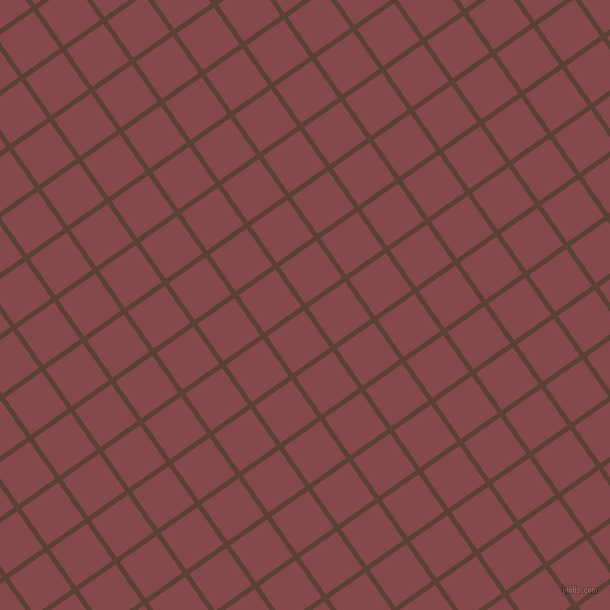 35/125 degree angle diagonal checkered chequered lines, 5 pixel line width, 45 pixel square size, Very Dark Brown and Solid Pink plaid checkered seamless tileable