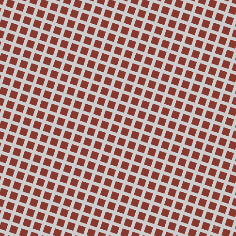 72/162 degree angle diagonal checkered chequered lines, 7 pixel lines width, 15 pixel square size, Very Light Grey and Crab Apple plaid checkered seamless tileable