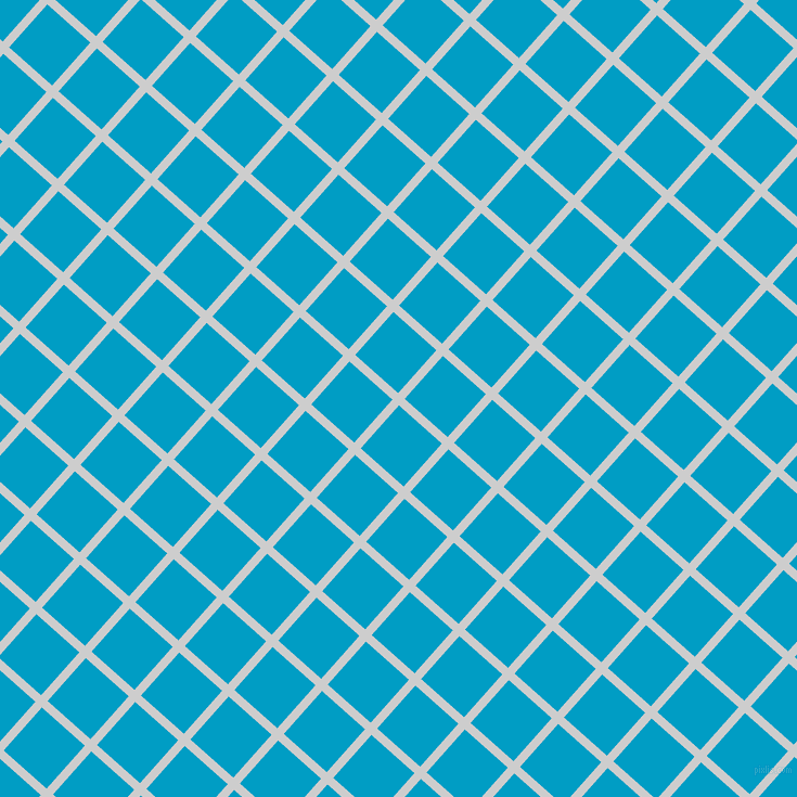 48/138 degree angle diagonal checkered chequered lines, 8 pixel lines width, 53 pixel square size, Very Light Grey and Pacific Blue plaid checkered seamless tileable