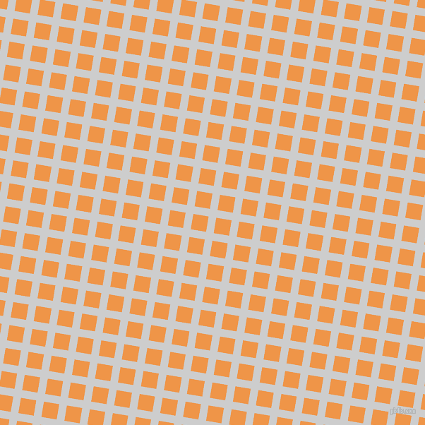 81/171 degree angle diagonal checkered chequered lines, 11 pixel line width, 22 pixel square size, Very Light Grey and Sea Buckthorn plaid checkered seamless tileable