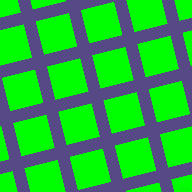 14/104 degree angle diagonal checkered chequered lines, 42 pixel lines width, 118 pixel square size, Victoria and Lime plaid checkered seamless tileable